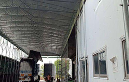 悬空电动雨棚